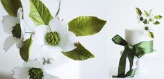 sugar foliage and cake by Lina Veber