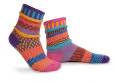 Mismatched Socks - Carnation Life's too short to wear matching socks! Get something fun for your feet with these colorful, multi-patterned, mismatched socks. Solmate Socks, Fun Socks, Crazy Socks, Matching Socks, Colorful Socks, Tween Girls, Cotton Socks, Knitting Socks, Crochet Socks