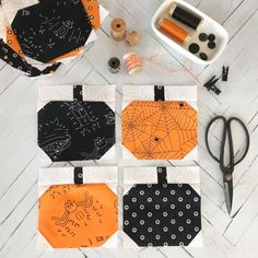 Sewing Quilts 2018 Boo to You Halloween Mystery Quilt - Block 2 Halloween Quilt Patterns, Halloween Sewing Projects, Halloween Quilts, Sewing Crafts, Sewing Ideas, Halloween Blocks, Sewing Tips, Embroidery Designs, Quilting Designs