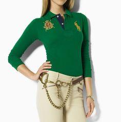 Skinny Polo vert