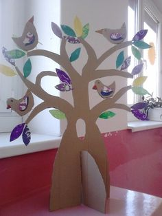 3. A Jarní tvoření | ZŠ Habrmanova Cardboard Tree, Cardboard Box Crafts, Easy Crafts, Diy And Crafts, Arts And Crafts, Diy For Kids, Crafts For Kids, Kindergarten Projects, Dollar Tree Decor