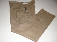 Tommy Hilfiger Men's Khaki Dress Pants Size W38 X L32 Free Shipping NWT #TommyHilfiger #DressFlatFront