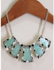 Mint Shell Tribal Necklace