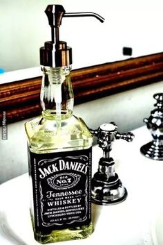 Cool DIY Projects Home Decor Idea! Glass Bottle Soap Dispenser made from an old . CLICK Image for full details Cool DIY Projects Home Decor Idea! Glass Bottle Soap Dispenser made from an old Jack Daniels bottle