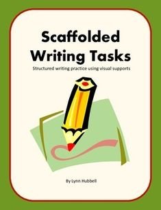 Recently+updated,+Scaffolded+Writing+Tasks+is+a+workbook+originally+designed+for+students+on+the+autism+spectrum+or+who+have+difficulty+processing+language+but+appropriate+for+any+struggling+writer.+The+format+provides+a+great+deal+of+scaffolding+support+through+picture+and+writing+prompts+to+guide+the+writer+through+the+process+of+identifying+main+ideas+and+key+details+in+order+to+organize+and+write+simple+paragraphs.