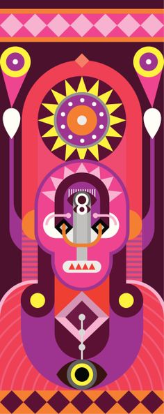 dan4 on Gettyimages: Vector Art : Totem - abstract vector illustration