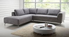 Nick Scali corner lounge suite in  Grey