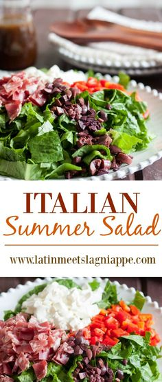 This tasty Italian Summer Salad (Guest Post) is a delicious and easy lunch!