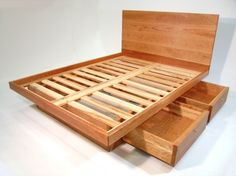 custom- platform bed with drawers