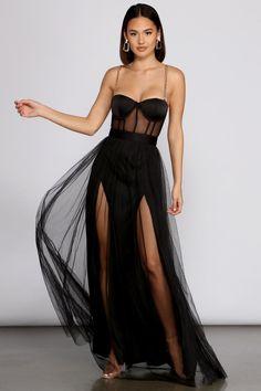 Sexy Dresses, Nice Dresses, Formal Dresses, Fashion Nova Prom Dresses, Sandro, Fall Outfits, Cute Outfits, Bustier Dress, Belleza Natural