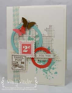 WMW Butterfly Post by Wendybell - Cards and Paper Crafts at Splitcoaststampers