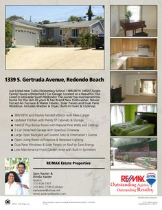 Just Listed in Redondo Beach, CA 1339 S Gertruda Ave