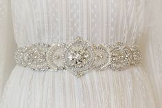 Virginia  Swarovski  Crystal Bridal Sash Belt