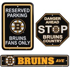 Boston Bruins 3-Piece Kit $24.95 -- I can totally picture these in Papa's den.. and surprisingly he doesnt have any of these 3 yet!!