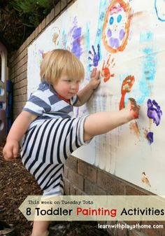 8 Toddler Painting Activities