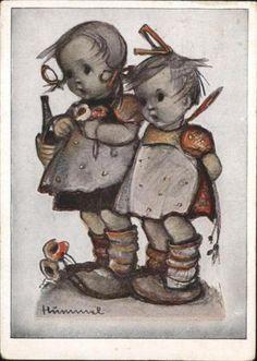 71101853-Hummel-Nr-Maedchen-Kinder-Gratulanten-Kuenstlerkarte