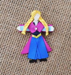 Anna from Frozen INSPIRED Ribbon Sculpture Hair Clip or Christmas Tree Ornament (Disney Princesses and Heroines)