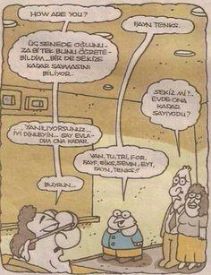 Karikatür fayn tenks one two three