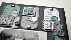 Préparons Noël J3 : Home déco par Cathyscrap85 - Florilèges Design Mini Albums, Scrapbooking, Home And Deco, Embellishments, Blog, Black And White, How To Make, Minis, Flower