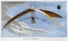 De Groof's Flying Machine - an engraved illustration found in an 1890s science book.