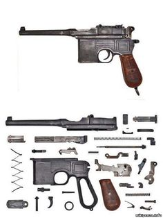 The Mauser is a semi-automatic pistol that was originally produced by German arms manufacturer Mauser from 1896 to Military Weapons, Weapons Guns, Guns And Ammo, Webley Revolver, Fire Powers, Cool Guns, Panzer, War Machine, World War Two