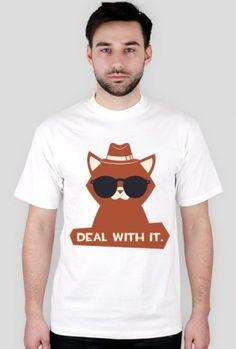 Deal with it - chcetomiec.cupsell.pl - koszulki nietypowe dla informatyków - bez reklamy chcetomiec.com