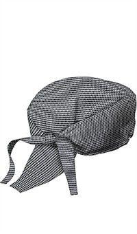 Style   3400HTW  Bandanas de chef - Estampado pata de gallo blanco y negro  Gorros d88961dfa61
