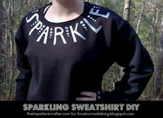 Sparkle typography shirt