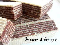 Napolitane cu crema de ciocolata – Savoare si Bun Gust Deserts, Candy, Cooking, Food, Cream, Kitchen, Desserts, Eten, Postres