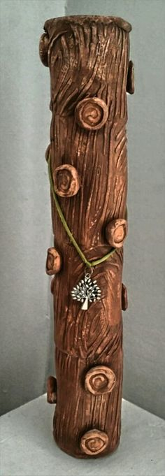 Purely clay rain stick