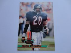 Mark Carrier 1993 Topps Stadium Club Football Card Collection