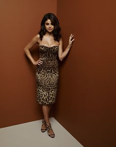 #SelenaGomez in leopard.  Register to win TIX to next year's #Grammys at www.divamall.tv and shop celeb looks at www.DivaMall.tv