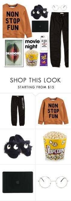 """""""Movie Night"""" by j4wahir ❤ liked on Polyvore featuring Hollister Co., Anya Hindmarch, Tucano, Nasty Gal and Fuego"""
