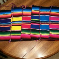 "Pick a color: Sarape blanket shoulder bags Beautifully made from quality serape blankets. Each one measures about 15""x10"" Bags Crossbody Bags"