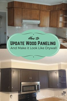 Fill in paneling grooves to make it look like drywall! SO EASY! How to update wood paneling and make it look like drywall by filling in the grooves of the paneling and painting! An easy weekend project for even the beginner DIYer. Paint Over Wood Paneling, Cover Wood Paneling, Wood Paneling Makeover, Wood Panneling, Wood Panel Walls, Painting Paneling, Paneling Ideas, Panelling, Wood Paneling Remodel