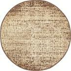 Harvest Beige 3 ft. 3 in. x 3 ft. 3 in. Round Area Rug