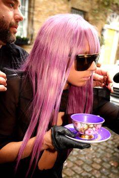 Love the tie dye hair on Lady Gaga