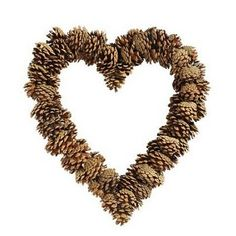 pinecone heart - brilliant!