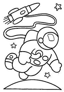 Astronauta para colorir