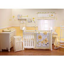 """Not your typical pink girls room! Bright Blossom - 8pc Comforter Set - Crown Craft - Babies """"R"""" Us"""