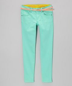 Loving this Opal Belted Straight-Leg Jeans - Girls on #zulily! #zulilyfinds