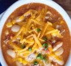 This White Bean Chili Kraft Recipes is a good for your dessert made with wholesome ingredients! Kraft Recipes, Ww Recipes, Chili Recipes, Healthy Recipes, Soup Recipes, Bean Recipes, Light Recipes, Turkey Recipes, Diabetic Recipes