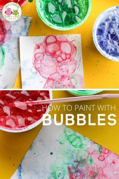 Preschool Arts And Crafts, Art Activities For Kids, Sensory Activities, Bubble Painting, Bubble Art, Projects For Kids, Art Projects, Kids Bubbles, Process Art