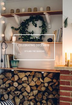 December Styling The seasons Christmas Interiors, Slow Living, Christmas Inspiration, Wonderful Things, Simple Christmas, Floating Shelves, Ladder Decor, Sweet Home, December
