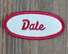 Dale-Vintage Name Patch-Name Patches-Bowling Shirt Patch-Work Shirt Patch-Retro Name Patch-Uniform Name Patch #bowlingshirts