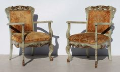 2 Heavily Carved French Ornate Lounge Chairs with Armrests Condition:  Used  2 Heavily Carved French Ornate Lounge Chairs with Armrests  size per chair: 570 L x 500 W x 900 H  R9999 for both chairs  Cell 076 706 4700  Tel 021 - 558 7546  www.furnicape.co.za  0408