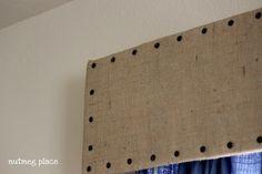 DIY Cornisa para cortinas