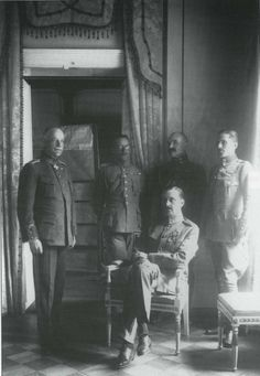 August 1915 - Kaiser Wilhelm Authorizes Formation of Finnish Battalion Pictured - Mannerheim, seated, pictured after the war. With Warsaw firmly in their grasp, Germany looked to take another Russian domain from the Tsar's clutches - Finland.