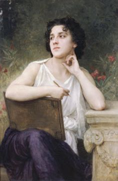http://www.pradichayapoonyaritvoicestudio.com -Pradichaya Poonyarit Voice Studio. Easton, Pennsylvania: Waiting for an inspiration. Inspired by the painting: Inspiration (1898). William-Adolphe Bouguereau (1825-1905)