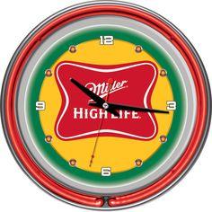 Trademark Commerce MHL1400 Miller High Life 14 Inch Neon Wall Clock